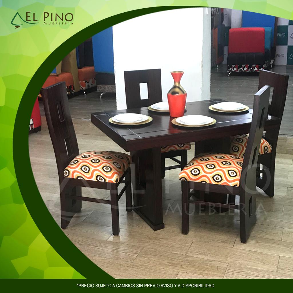 Juego de comedor de 4 asientos - Mueblería El Pino